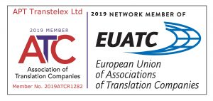 Association of Translation Companies - Certified Translation produced by APT Transtelex Ltd